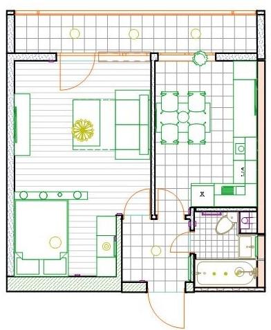 2-Й Крестовский переулок 12 Согласованный план кухни розетки